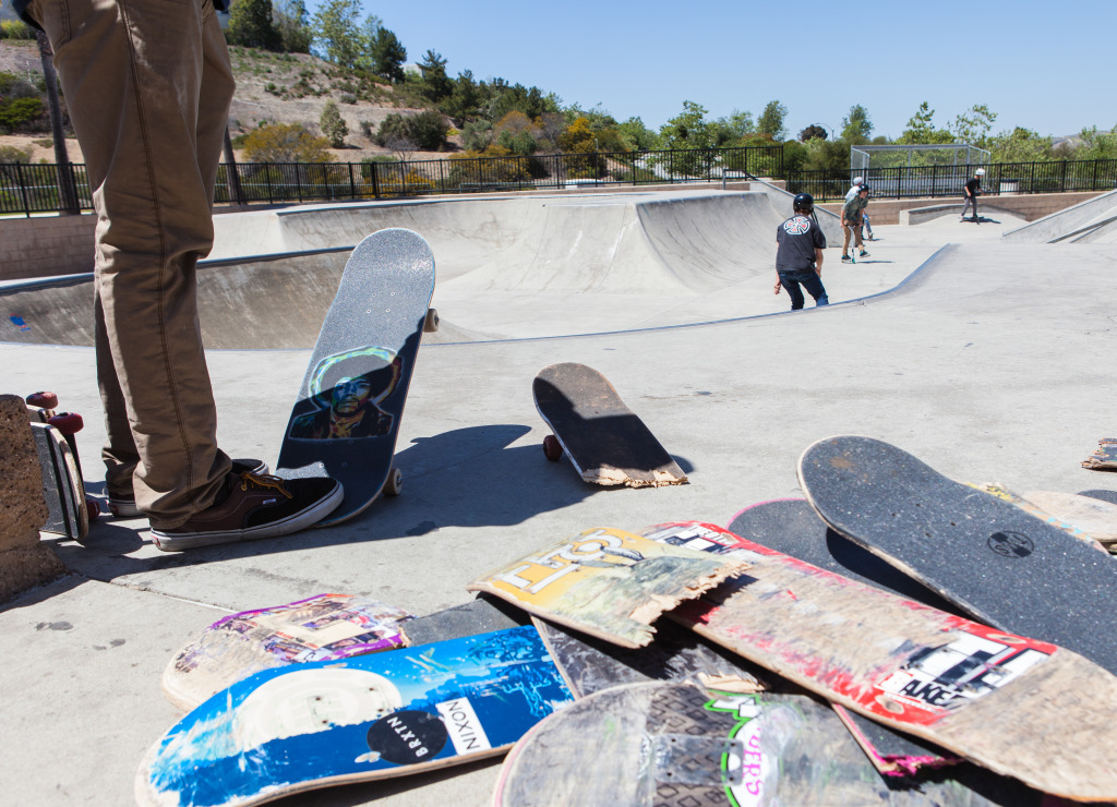Skateboarders at Ralph's kate park